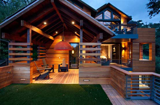 Galeria catalogo casas de madera prefabricadas Homes with lots of beautiful natural wood
