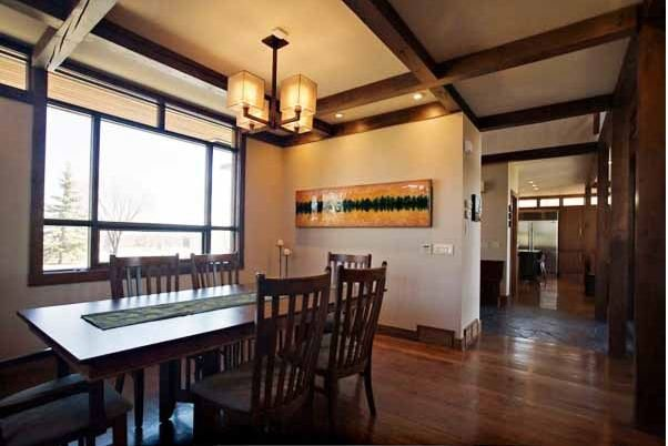Casa madera canadiense comedor - Interior casas de madera ...