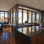 Casa madera canadiense. Interior Cocina