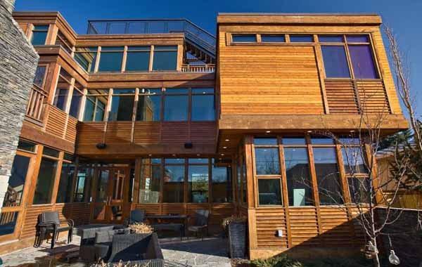 Casa De Madera Canadiense Con Terraza Casas De Madera