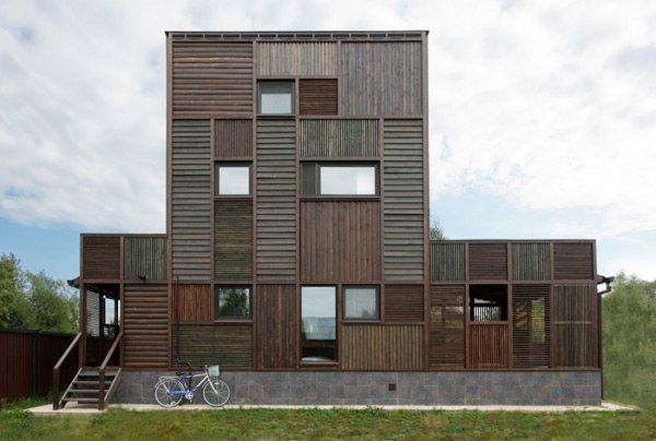 Casa volga madera con estilo rustico casas de madera - Casas con estilo rustico ...