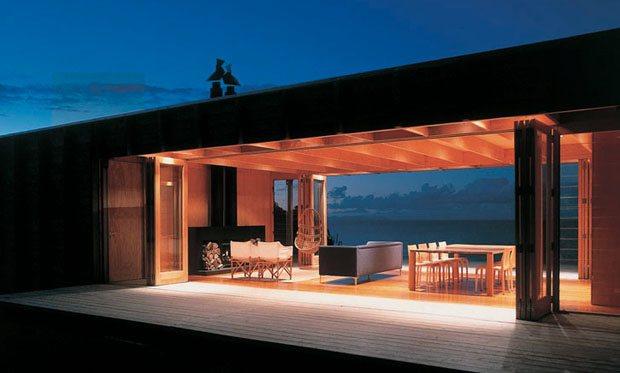 Casa bach contenedor de madera casas de madera - Casas prefabricadas de contenedores ...