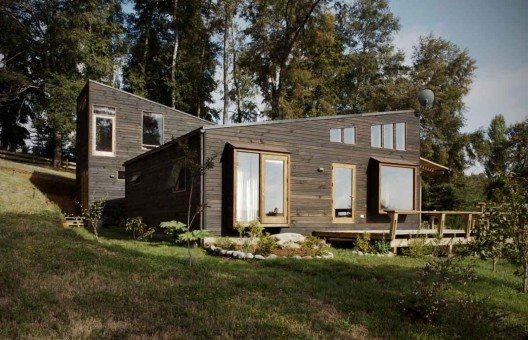 Casa unifamilar de madera prefabricada casas de madera - Terreno para casa prefabricada ...