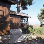 Casa Árbol. Piedra y madera