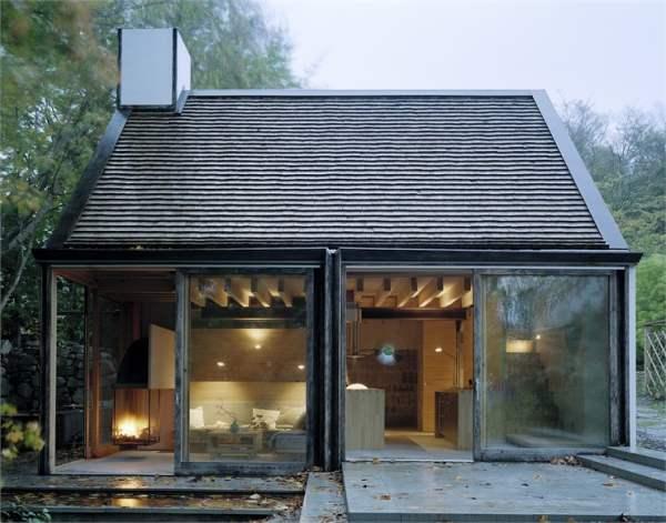 casa-molino de madera