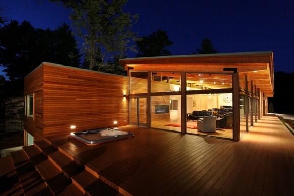 Casa de madera en el lago sencilla pero elegante casas - Casas de madera balcan house ...
