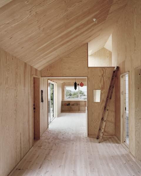 Casa morran prefabricada de madera casas de madera - Interiores de casas prefabricadas ...