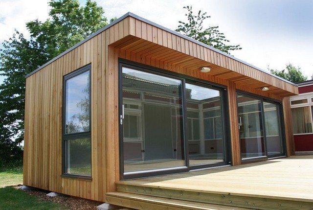 Trabajar desde una oficina de madera casas de madera for Casas de jardin de madera baratas